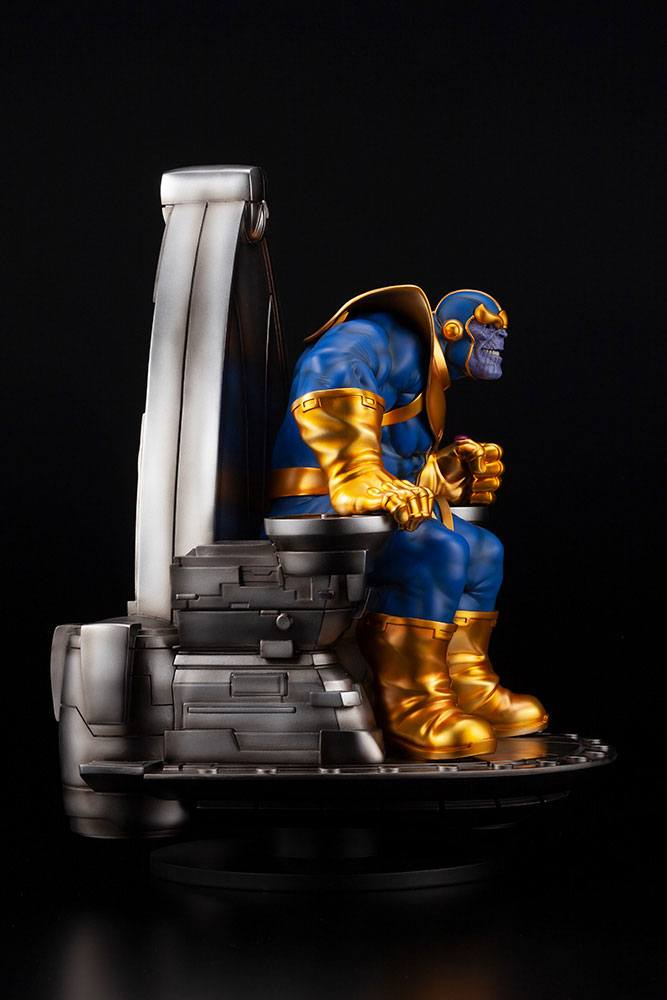 Statuette Marvel Fine Art Thanos on Space Throne 45cm 1001 Figurines (9)