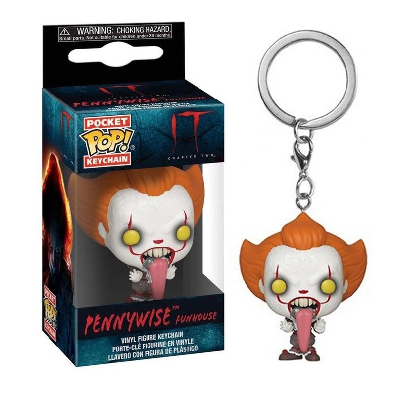 Porte-clés  Il  est revenu 2 Pocket POP! Pennywise w Dog Tongue 4cm 1001 figurines