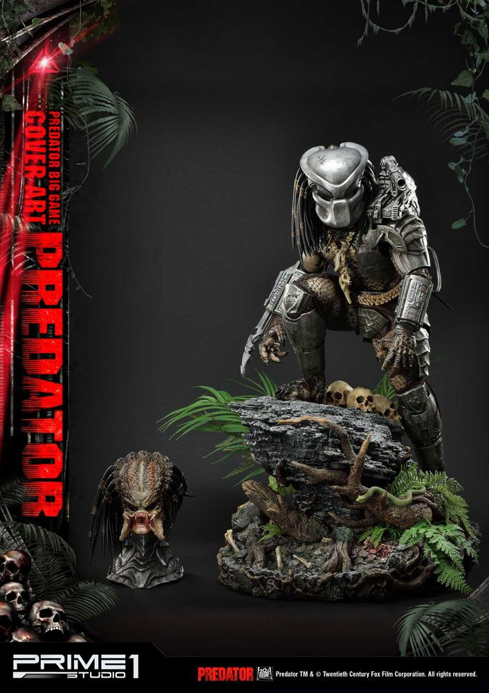 Statue Predator Big Game Cover Art Predator 72cm 1001 Figurines (5)