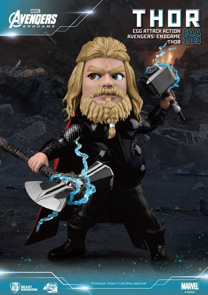 Figurine Avengers Endgame Egg Attack Thor 17cm 1001 figurines (2)