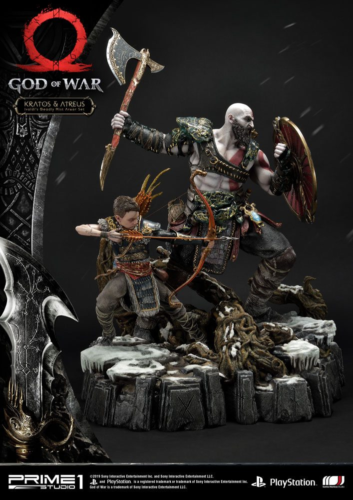 Statue God of War 2018 Kratos & Atreus 72cm 1001 Figurines (2)