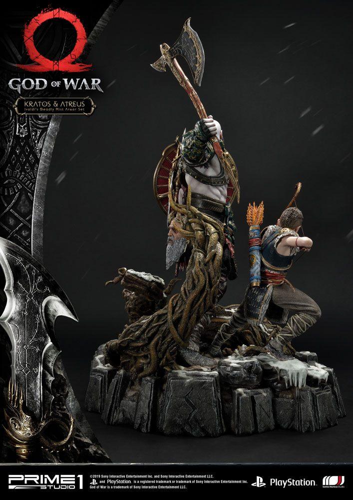 Statue God of War 2018 Kratos & Atreus 72cm 1001 Figurines (3)