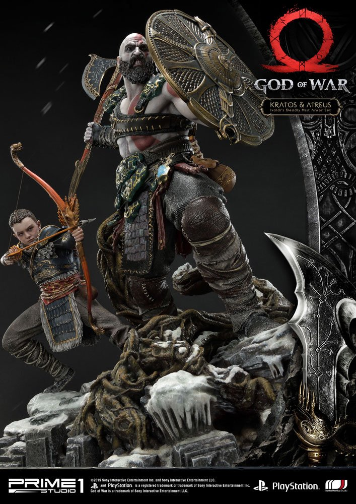 Statue God of War 2018 Kratos & Atreus 72cm 1001 Figurines (5)