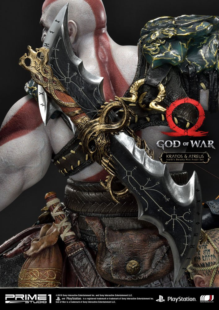 Statue God of War 2018 Kratos & Atreus 72cm 1001 Figurines (10)