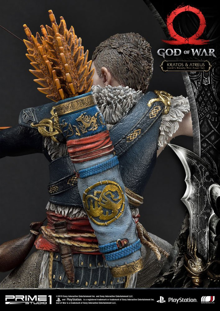 Statue God of War 2018 Kratos & Atreus 72cm 1001 Figurines (12)