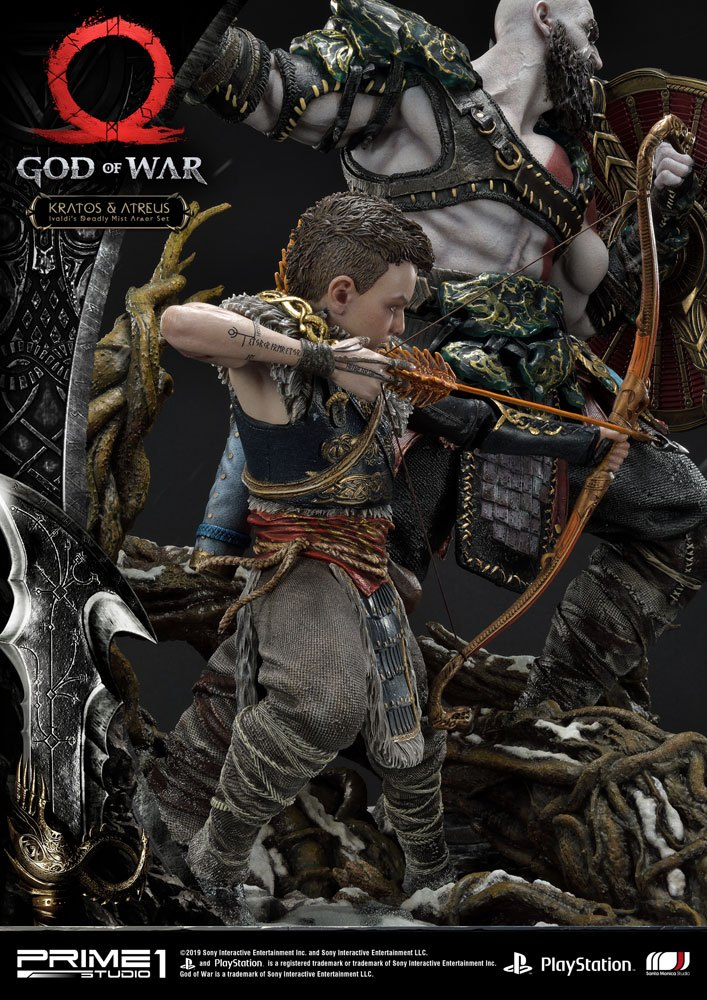 Statue God of War 2018 Kratos & Atreus 72cm 1001 Figurines (11)