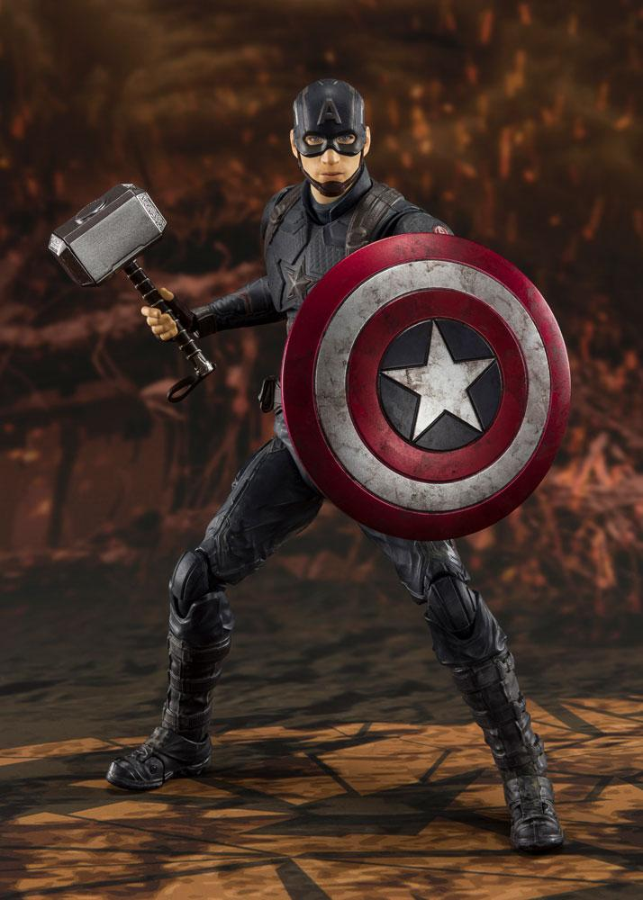 Figurine Avengers Endgame S.H. Figuarts Captain America Final Battle 15cm 1001 Figurines (2)