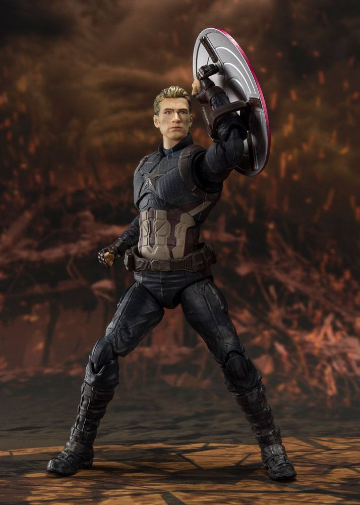Figurine Avengers Endgame S.H. Figuarts Captain America Final Battle 15cm 1001 Figurines (5)