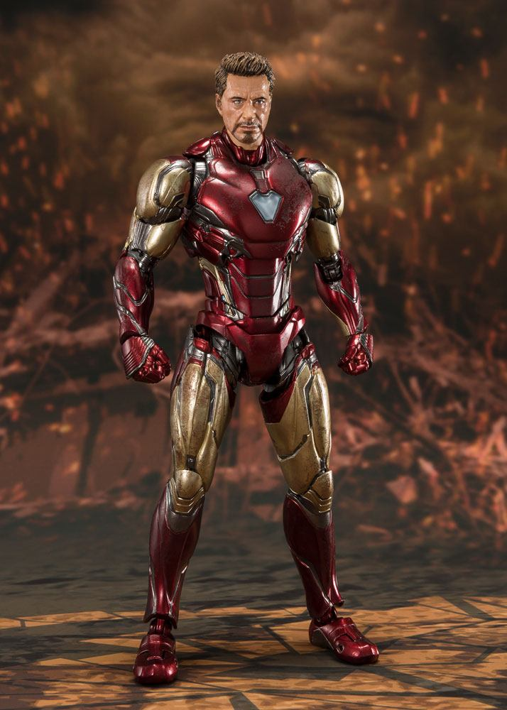 Figurine Avengers Endgame S.H. Figuarts Iron Man Mk 85 Final Battle 16cm 1001 Figurines (2)