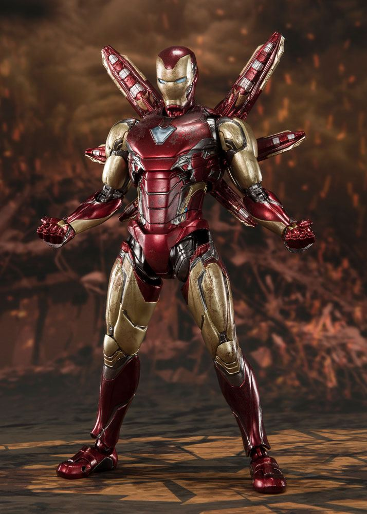 Figurine Avengers Endgame S.H. Figuarts Iron Man Mk 85 Final Battle 16cm 1001 Figurines (3)
