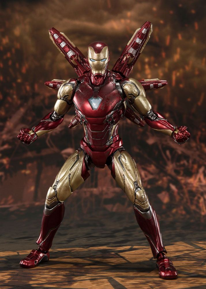 Figurine Avengers Endgame S.H. Figuarts Iron Man Mk 85 Final Battle 16cm 1001 Figurines (4)