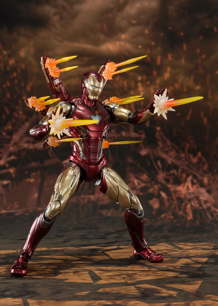 Figurine Avengers Endgame S.H. Figuarts Iron Man Mk 85 Final Battle 16cm 1001 Figurines (7)