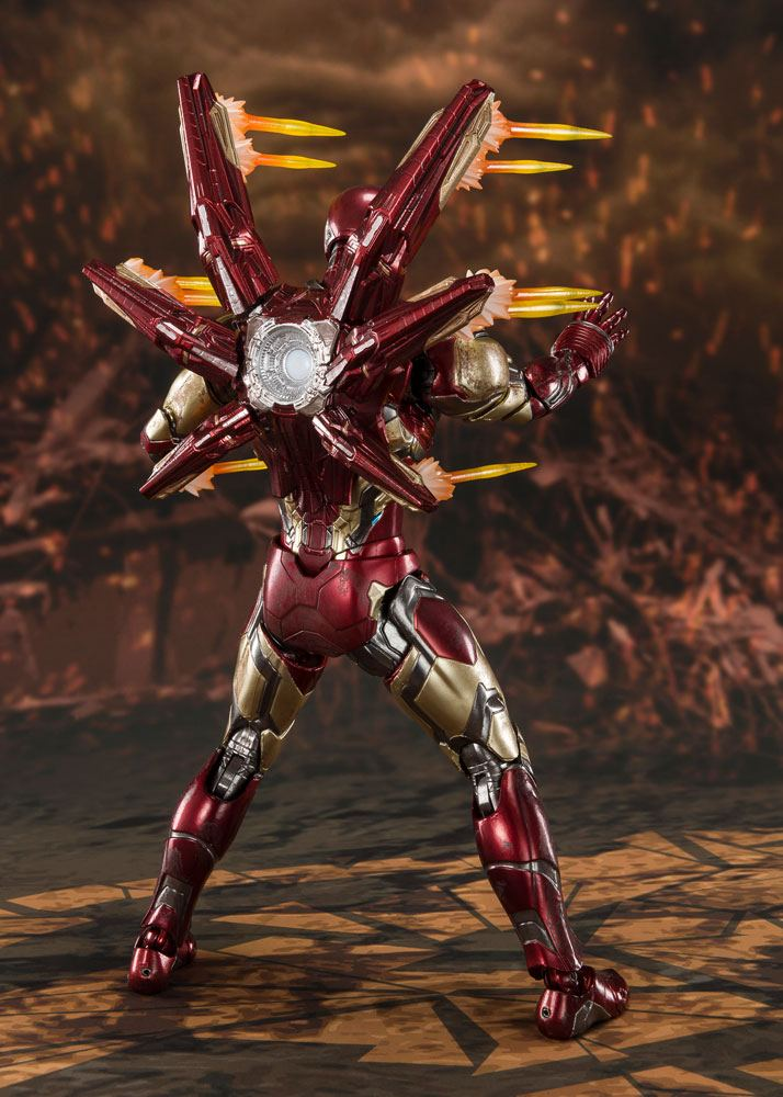 Figurine Avengers Endgame S.H. Figuarts Iron Man Mk 85 Final Battle 16cm 1001 Figurines (8)