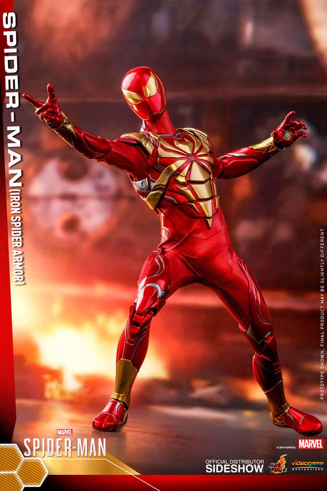 Figurine Marvels Spider-Man Video Game Masterpiece Spider-Man Iron Spider Armor 30cm 1001 Figurines (3)