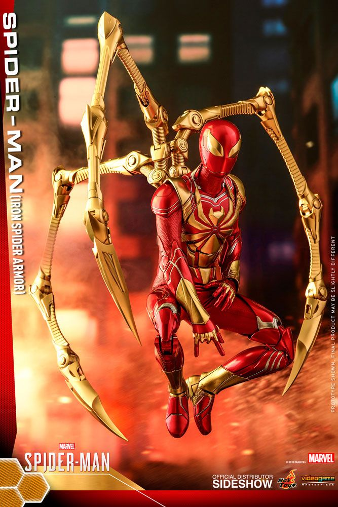 Figurine Marvels Spider-Man Video Game Masterpiece Spider-Man Iron Spider Armor 30cm 1001 Figurines (4)