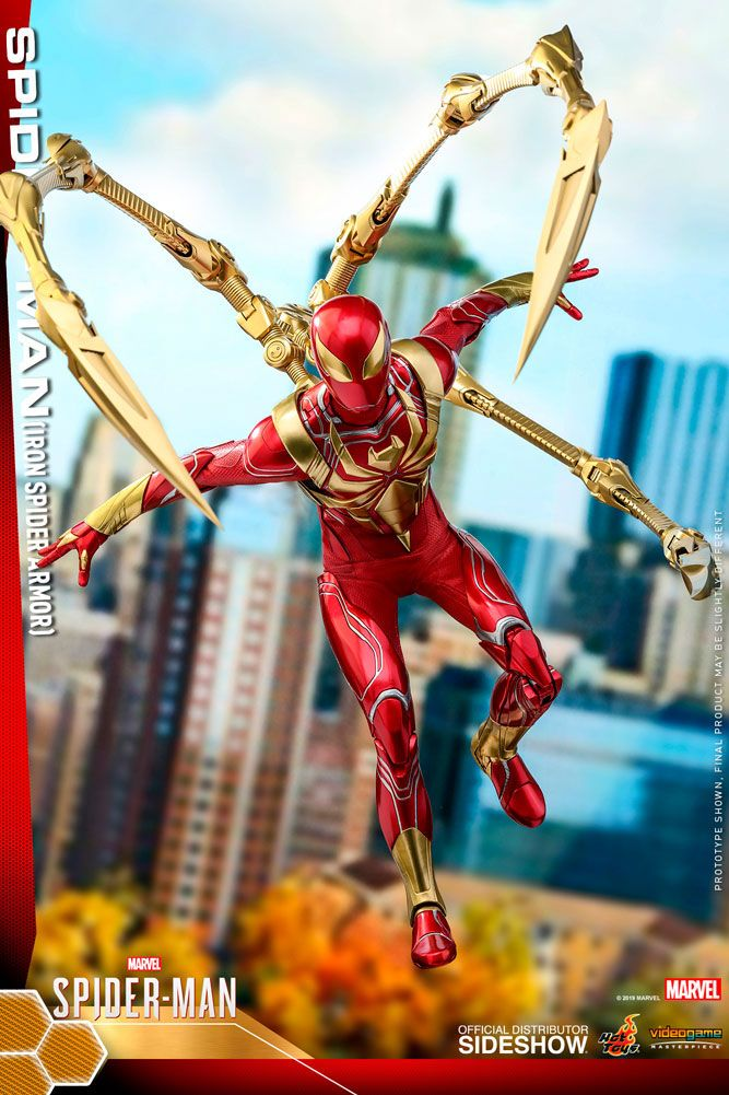 Figurine Marvels Spider-Man Video Game Masterpiece Spider-Man Iron Spider Armor 30cm 1001 Figurines (7)