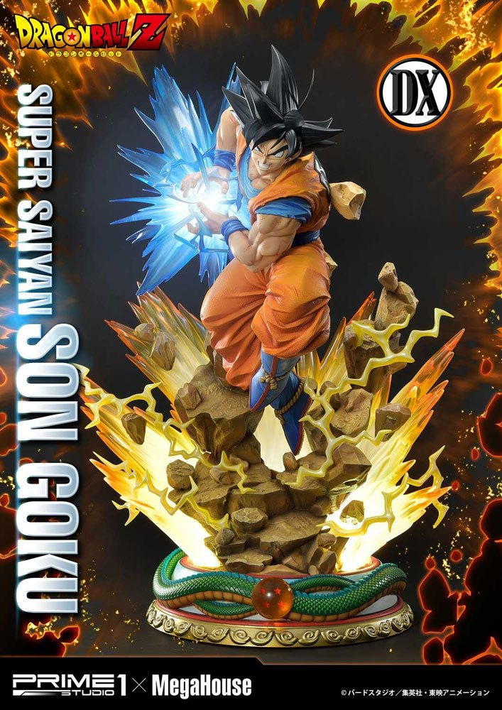 Statue Dragon Ball Z Super Saiyan Son Goku Deluxe Version 64cm 1001 Figurines (2)