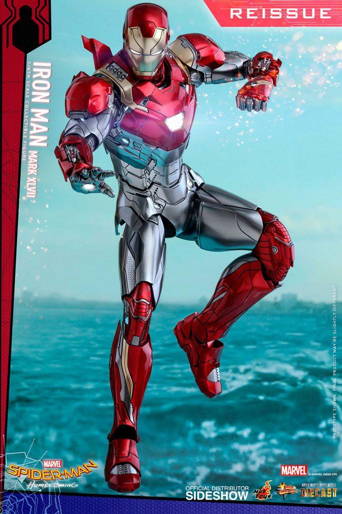 Figurine Spider-Man Homecoming Movie Masterpiece Diecast Iron Man Mark XLVII Reissue 32cm 1001 Figurines (2)
