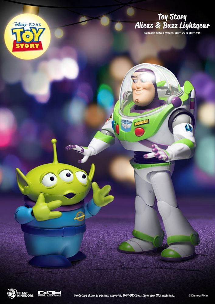 Pack 3 figurines Toy Story Dynamic Action Heroes Aliens DX Ver. 12cm 1001 Figurines (9)