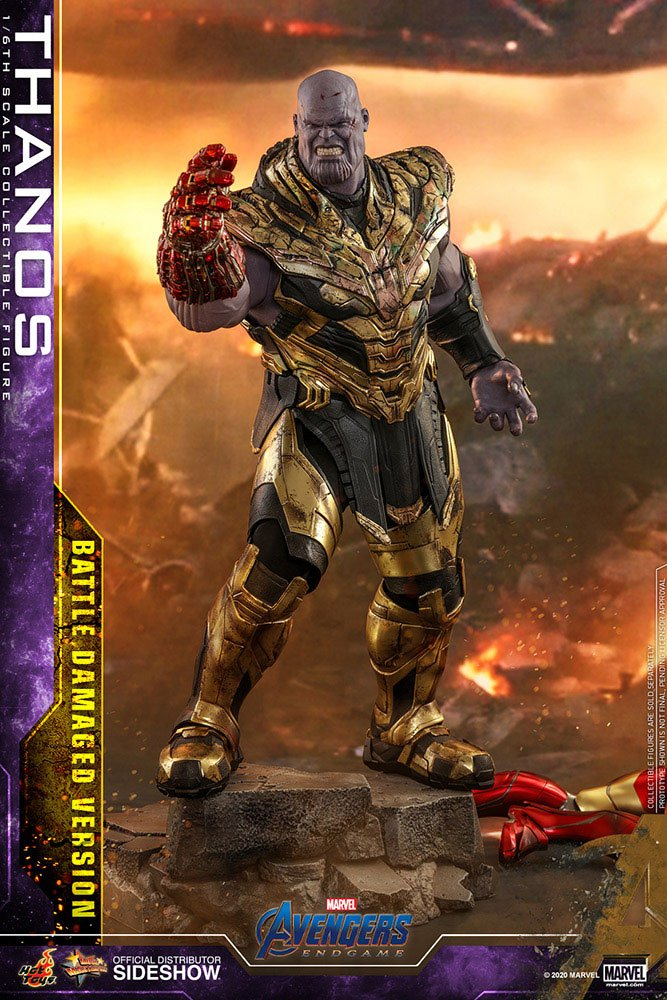 Figurine Avengers Endgame Movie Masterpiece Thanos Battle Damaged Version 42cm 1001 Figurines (2)