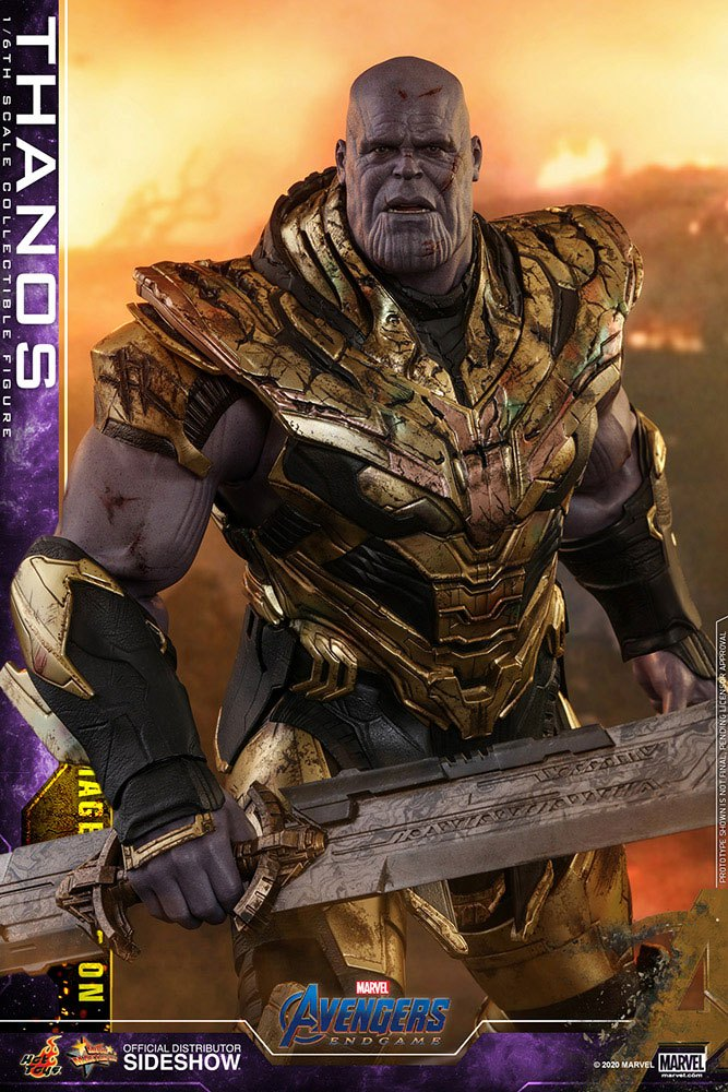 Figurine Avengers Endgame Movie Masterpiece Thanos Battle Damaged Version 42cm 1001 Figurines (5)