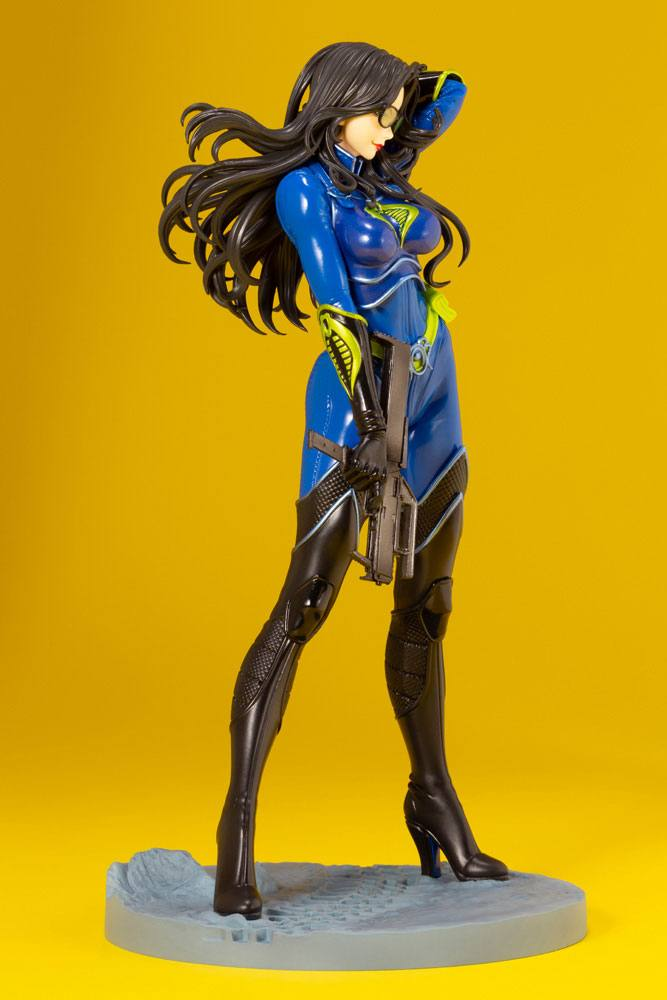 Statuette G.I. Joe Bishoujo Baroness 25th Anniversary Blue Color Ver. 23cm 1001 Figurines (4)
