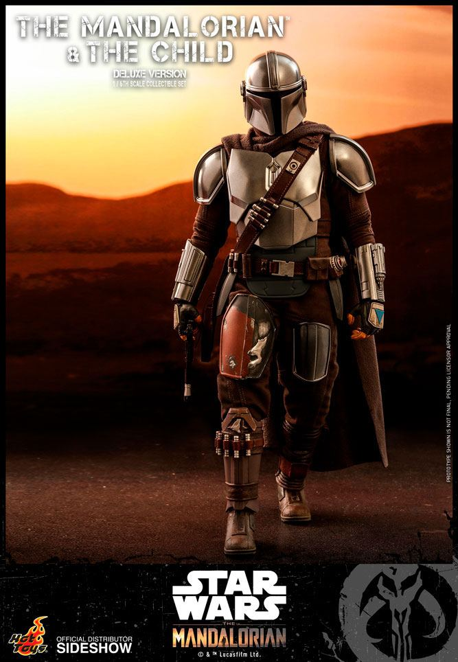 Pack 2 figurines Star Wars The Mandalorian - The Mandalorian & The Child Deluxe 30cm 1001 figurines (4)