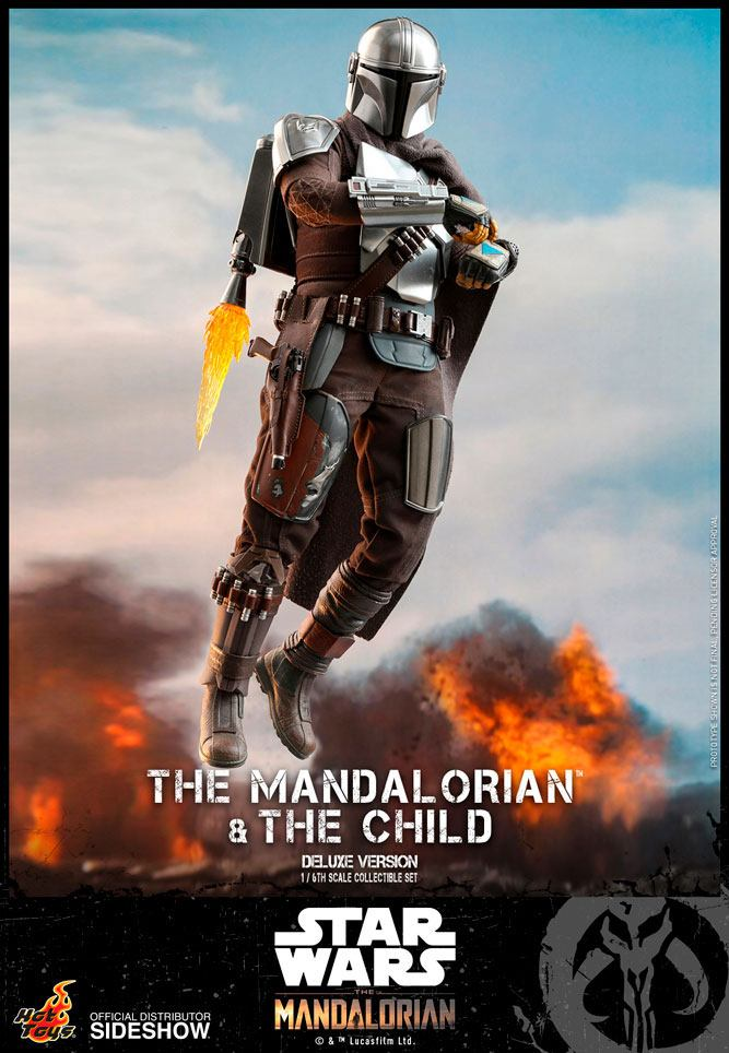 Pack 2 figurines Star Wars The Mandalorian - The Mandalorian & The Child Deluxe 30cm 1001 figurines (5)