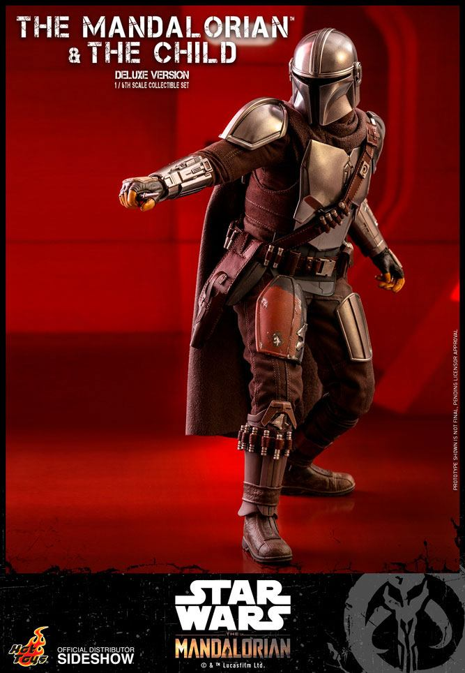 Pack 2 figurines Star Wars The Mandalorian - The Mandalorian & The Child Deluxe 30cm 1001 figurines (7)