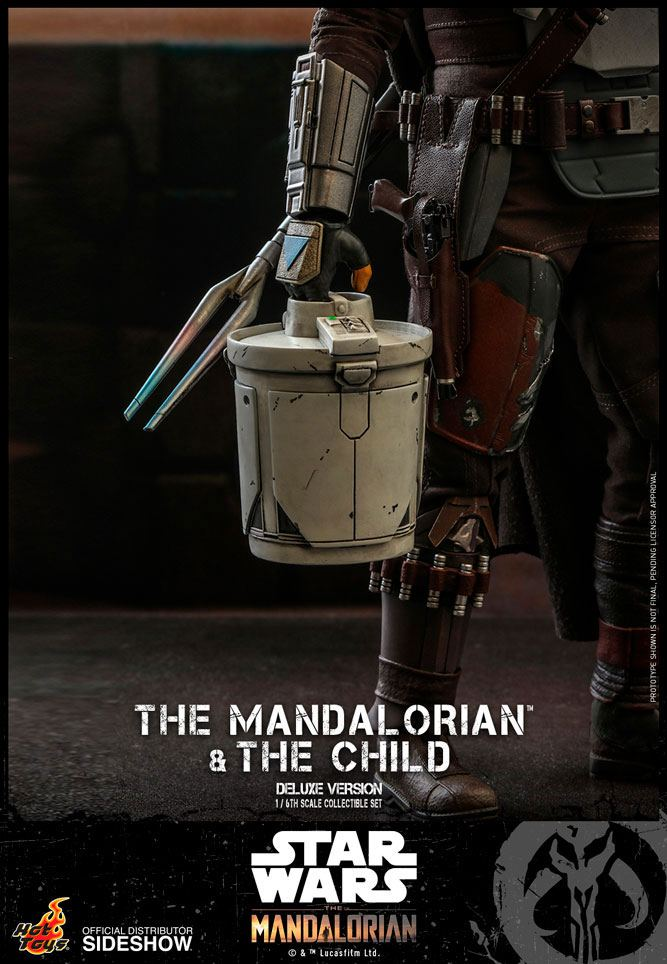 Pack 2 figurines Star Wars The Mandalorian - The Mandalorian & The Child Deluxe 30cm 1001 figurines (21)