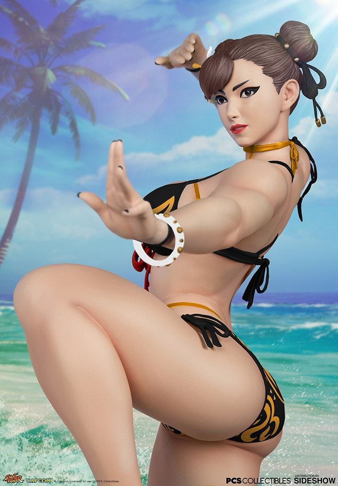 Statuette Street Fighter Chun-Li Player 2 Battle EX Season Pass 46cm 1001 figurines (5)