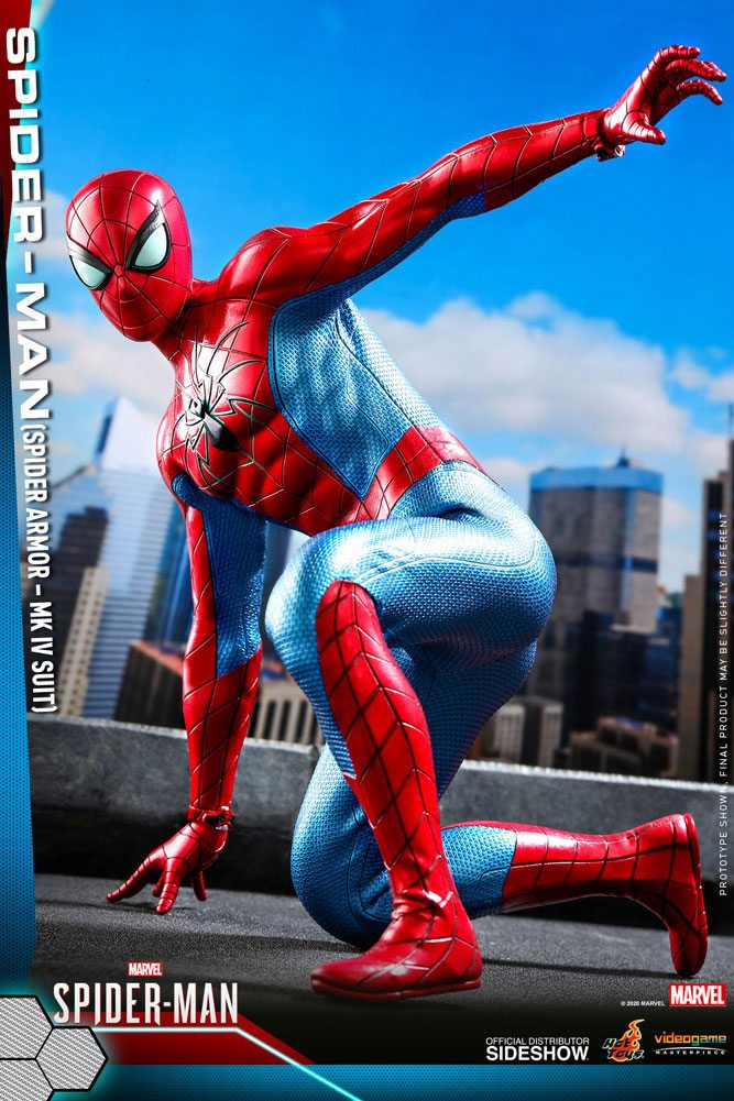 Figurine Marvels Spider-Man Video Game Masterpiece Spider-Man Spider Armor MK IV Suit 30cm 1001 Figurines (4)