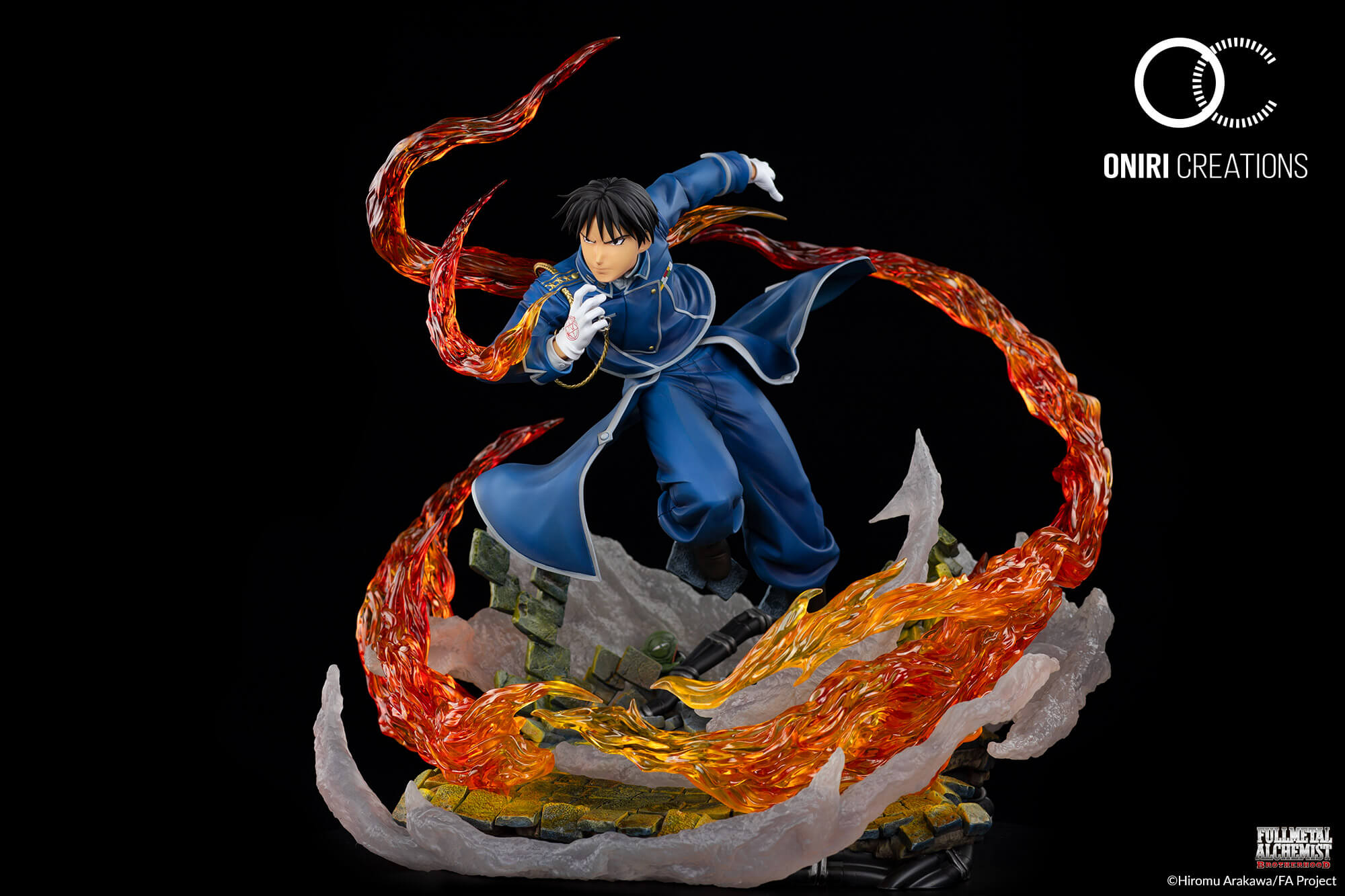 Statue Fullmetal Alchemist Roy Mustang The flame Alchemist Oniri Creations