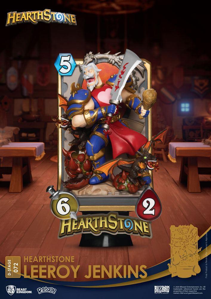 Diorama Hearthstone Heroes of Warcraft D-Stage Leeroy Jenkins 16cm 1001 Figurines (1)