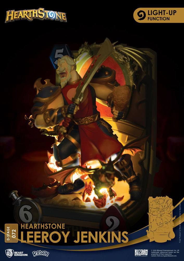 Diorama Hearthstone Heroes of Warcraft D-Stage Leeroy Jenkins 16cm 1001 Figurines (3)