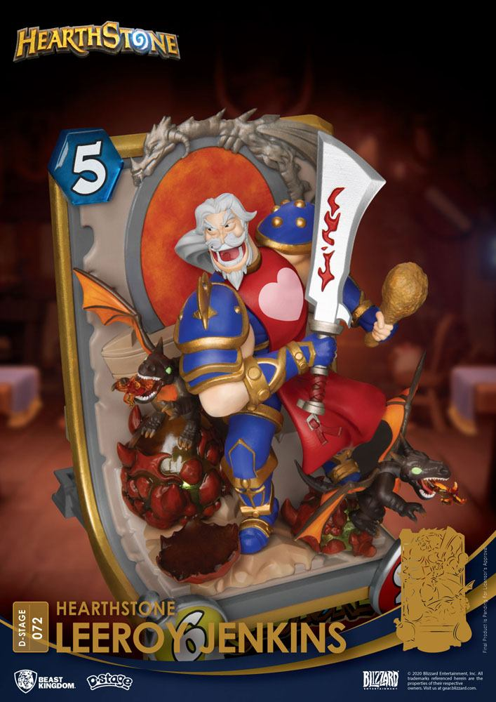 Diorama Hearthstone Heroes of Warcraft D-Stage Leeroy Jenkins 16cm 1001 Figurines (11)