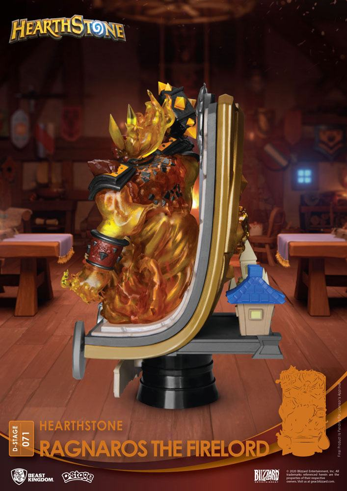 Diorama Hearthstone Heroes of Warcraft D-Stage Ragnaros the Firelord 16cm 1001 Figurines (6)