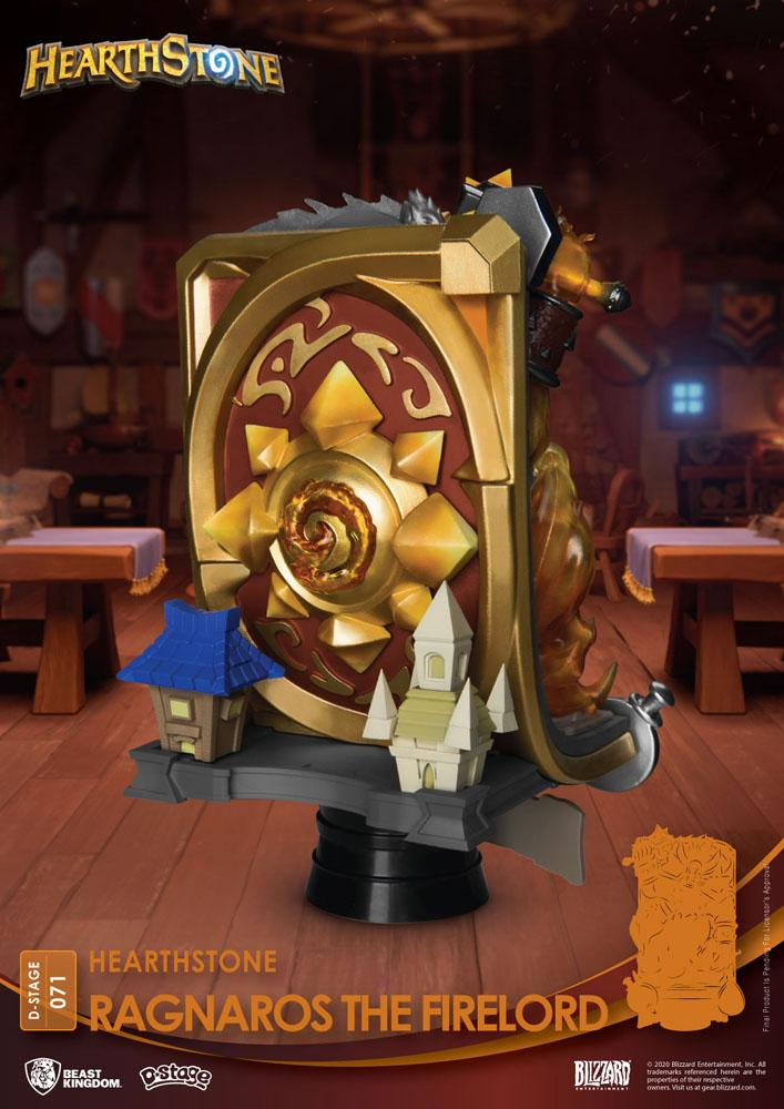 Diorama Hearthstone Heroes of Warcraft D-Stage Ragnaros the Firelord 16cm 1001 Figurines (8)