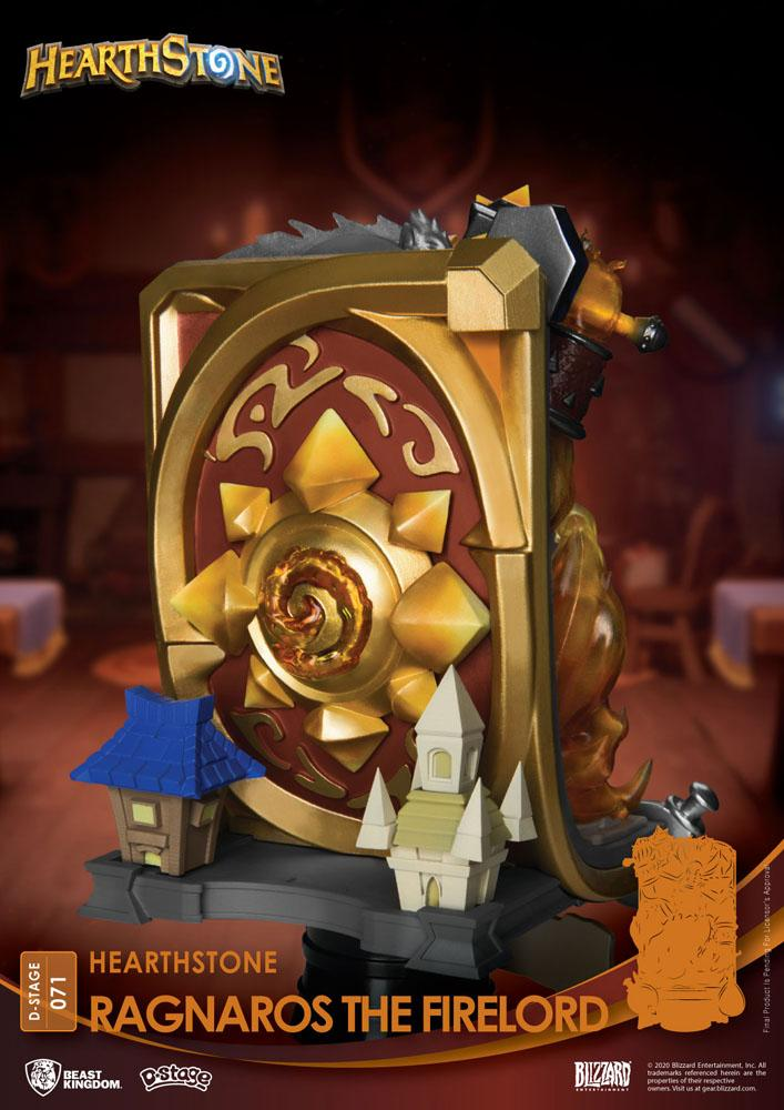 Diorama Hearthstone Heroes of Warcraft D-Stage Ragnaros the Firelord 16cm 1001 Figurines (11)