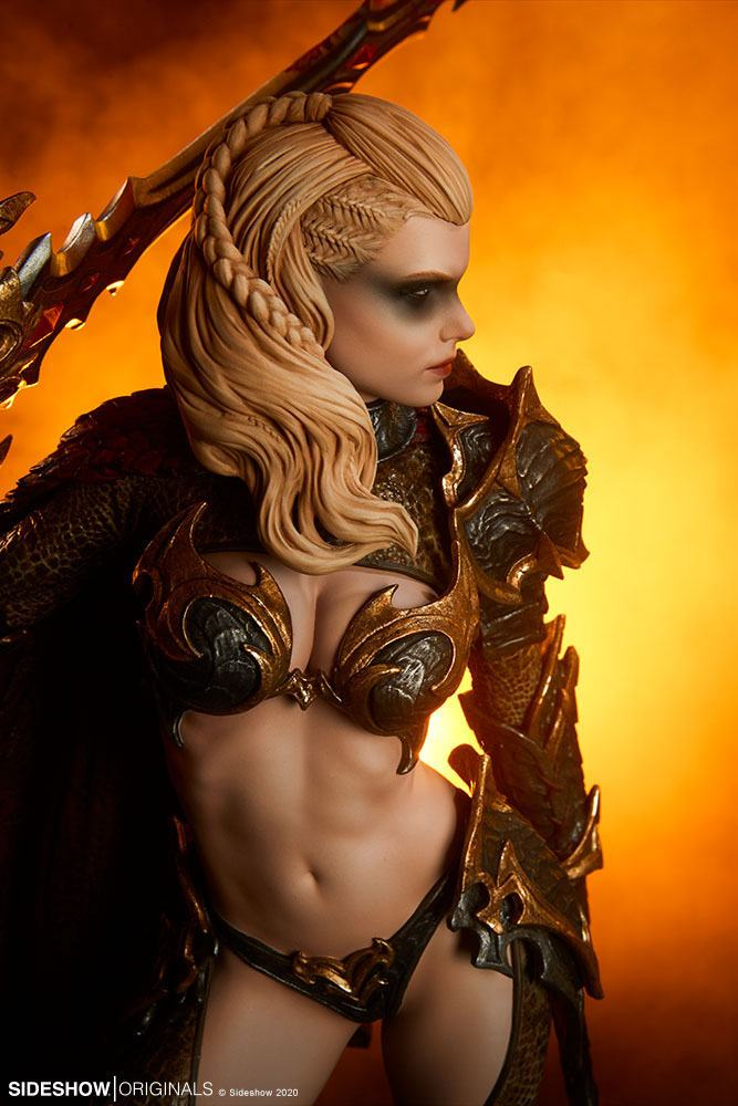 Statuette Sideshow Originals Dragon Slayer Warrior Forged in Flame 47cm 1001 Figurines (5)