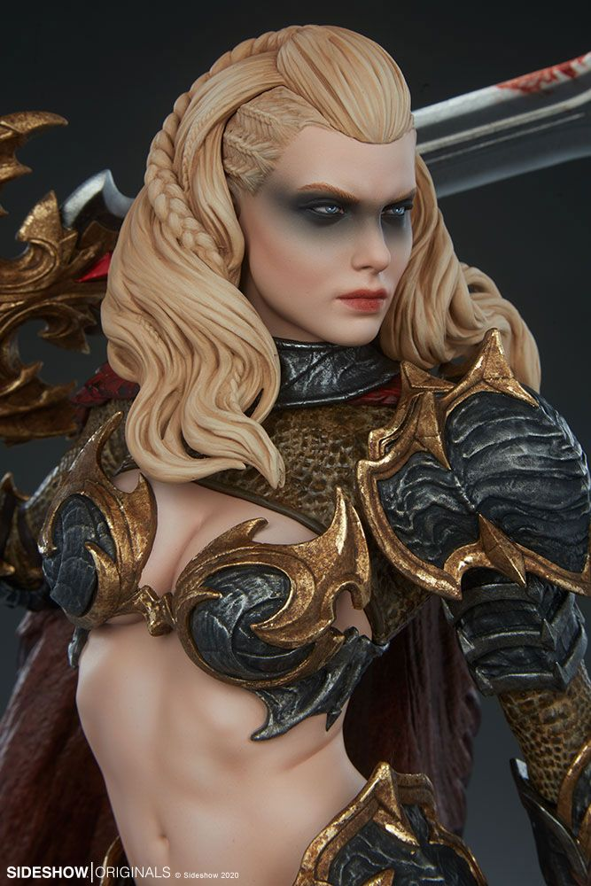 Statuette Sideshow Originals Dragon Slayer Warrior Forged in Flame 47cm 1001 Figurines (11)