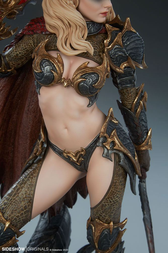 Statuette Sideshow Originals Dragon Slayer Warrior Forged in Flame 47cm 1001 Figurines (14)