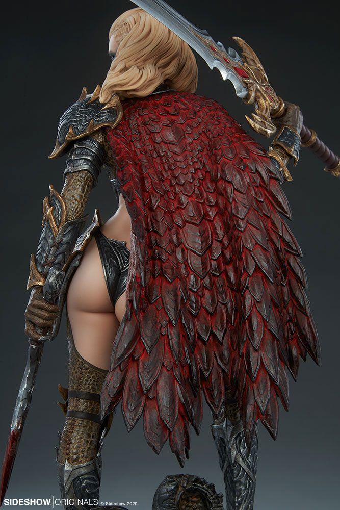 Statuette Sideshow Originals Dragon Slayer Warrior Forged in Flame 47cm 1001 Figurines (15)