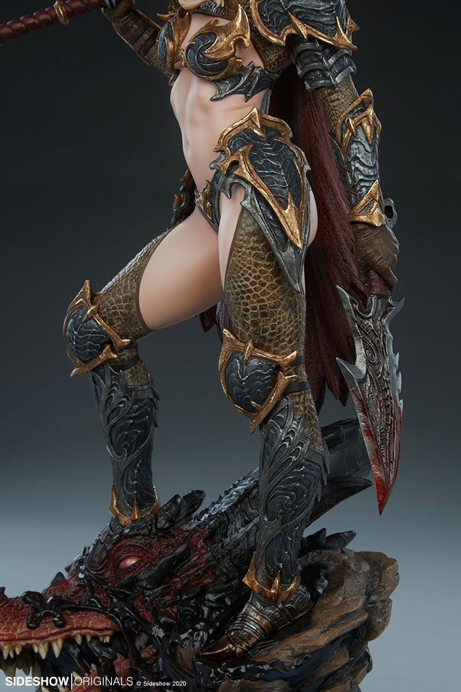 Statuette Sideshow Originals Dragon Slayer Warrior Forged in Flame 47cm 1001 Figurines (19)