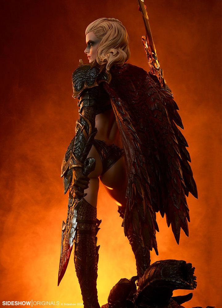 Statuette Sideshow Originals Dragon Slayer Warrior Forged in Flame 47cm 1001 Figurines (22)