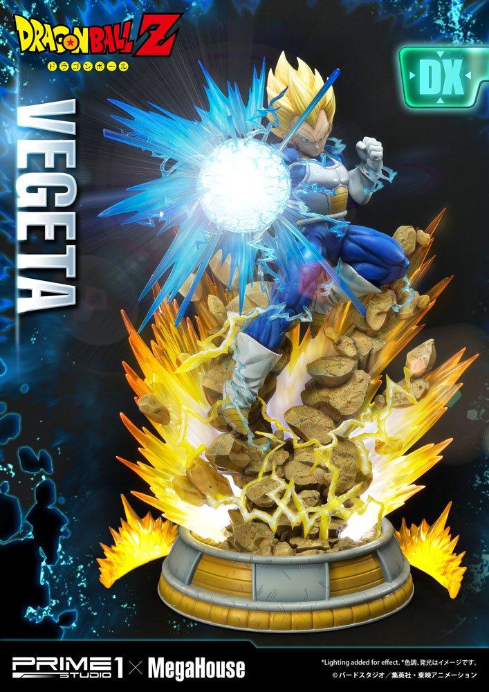 Statuette Dragon Ball Z Super Saiyan Vegeta Deluxe Version 64cm 1001 Figurines (4)
