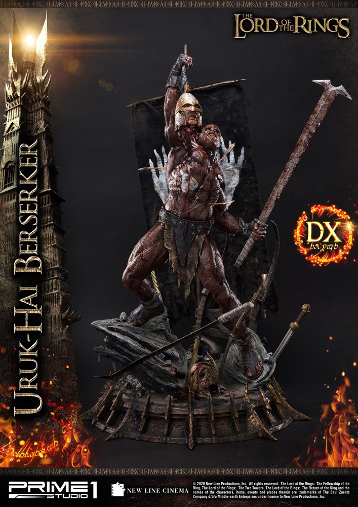 Statue Le Seigneur des Anneaux Uruk-Hai Berserker Deluxe Version 93cm 1001 Figurines (1)