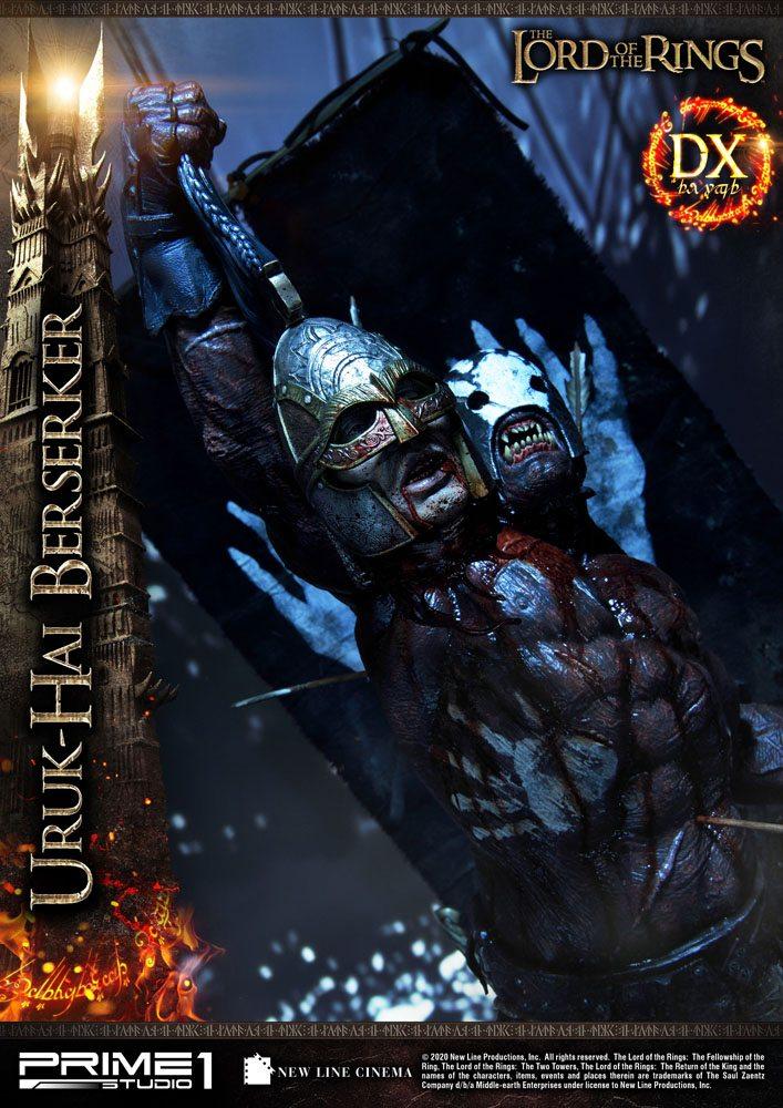Statue Le Seigneur des Anneaux Uruk-Hai Berserker Deluxe Version 93cm 1001 Figurines (3)