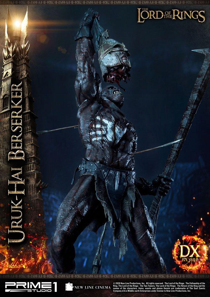 Statue Le Seigneur des Anneaux Uruk-Hai Berserker Deluxe Version 93cm 1001 Figurines (4)