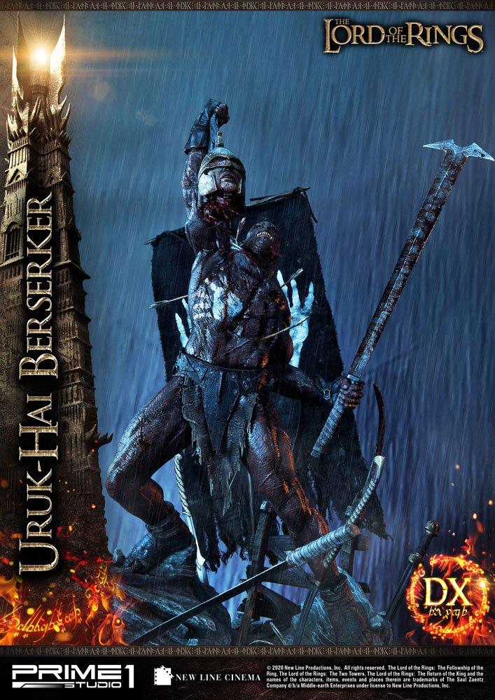 Statue Le Seigneur des Anneaux Uruk-Hai Berserker Deluxe Version 93cm 1001 Figurines (5)